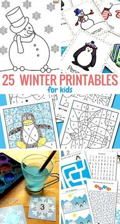 Now to welcome the coldest season of the year we've got 25 winter printables for kids to share with you.