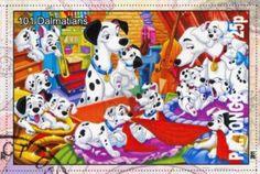TONGO - CIRCA 2011: stamp printed by Tongo, shows Walt Disney cartoon character, 101 Dalmatians