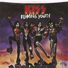 """Kiss. Flaming Youth. 7"""". 1976"""