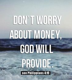 Bible Verses About Money Worries will enlighten your mind on what God is saying concerning financial worries. They'll encourage and comfort you with peace of mind Bible Verses Quotes, Bible Scriptures, Faith Quotes, Powerful Bible Verses, Religious Quotes, Spiritual Quotes, God Will Provide, Gods Promises, Quotes About God
