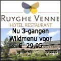 Button aangepast voor Hotel-Restaurant Ruyghe Venne. Nu het 3-gangen Wildmenu voor € 29,95. Restaurant Ruyghe Venne is dagelijks geopend voor een heerlijke lunch of een culinair diner. Geniet van kwaliteit, dagverse producten en pure ingrediënten. De keuken volgt de seizoenen en werkt graag met producten uit de regio. Naast de regelmatig wisselende a la carte kaart is er een dagelijks wisselend dagmenu. http://koopplein.nl/middendrenthe/plein-toppers