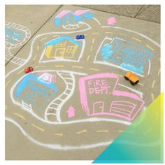 Yard Art Chalk Paint Spray + a little creativity will keep the kids busy – and outside – for hours! Yes, hours! #DoItOutsideDIY #PlayUpgrade . #PlayUpgrade #RustoleumCAN #DIY #DIYer #DIYProject #OutdoorLiving #DIYKidsProjects #KidsProjects #KidsCrafts #KidsActivities Cool Diy Projects, Projects For Kids, Diy For Kids, Crafts For Kids, Spray Chalk, Chalk Paint, Outdoor Activities For Kids, Kids Corner, Business For Kids