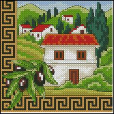 "Cross-stitch pattern "" Greece """