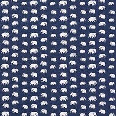 Textiles Elephant Cotton | English Pewter.