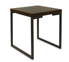 MESA LATERAL NEW FOREST BP IMBUIA/MARROM 55X55X60H