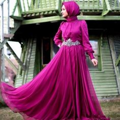 Find More Evening Dresses Information about Muslim Evening Dress Beaded Crystal Full Sleeves Fushia Evening Dresses Hijab A Line Vestido De Festa Elegant Evening Gown Train,High Quality dress code,China dress ceremony Suppliers, Cheap dresses spring from Charming Dress Factory on Aliexpress.com