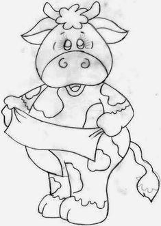 desenhos para pano de prato vaca
