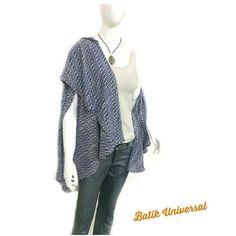 69550fa2f9c CARMINA Cardigan Pashmina Batik blouse by BATIKUNIVERSAL on Etsy  17.5   batikuniversal  etsy  handmade