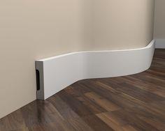 Innen Sockelleiste MD359F (Flex) - Fußleiste flexibel MD359F Bathtub, Bathroom, Interior, Modern Houses, Pigeon Loft, Standing Bath, Washroom, Modern Homes, Bathtubs