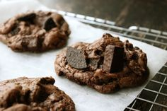 In need of an off-the-charts chocolate fix? Look no further folks. This cookie is as chocolaty as can be.