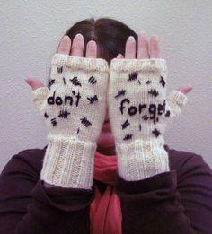 Don't forget fingerless gloves