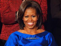 Michelle Obama: State of the Union Style, a Sleek Sapphire Blue Dress by Barbara Tfank