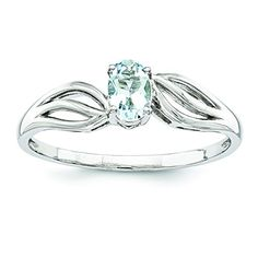 Sterling Silver Aquamarine Ring Size 9 >>> Check this awesome product by going to the link at the image. #Xmasjewelry