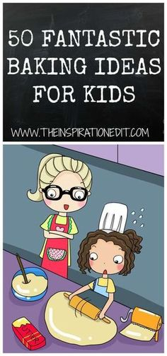Baking With Kids - Today I am sharing 50 fantastic foods to bake with kids. I have asked mum's from the blogging community to share their favourite treat to bake with their children and