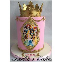 5th Birthday, Birthday Ideas, Birthday Cake, Princess Crown Cake, Prince Dragon, Royal Cakes, Gold Cake, Chocolates, Princesses