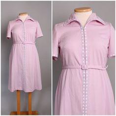 1970's Lavender Purple Dress / XL / Plus Size by LionsManeVintage