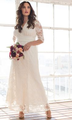 305aa74a6fa Check out the deal on Amour Lace Wedding Gown at Kiyonna Clothing Wedding  Dresses Plus Size