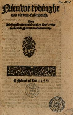 Nieuwe tydinghe van die van Culenborch. Item die supplicatie van die adelen ... - Google Books