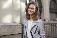 Monika Jagaciak BEAUTY STREET STYLE:New York Fashion Week, Day Two | Clarins Beauty Flash Blog