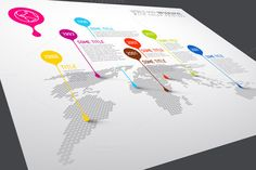 World Map Infographic with Droplets by Orson on Creative Market