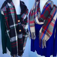 Stay extra warm on this chilly day with just a few of our many many adorable scarves at both stores! These aren't online...call to order!