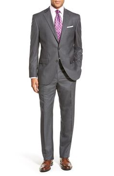 David Donahue 'Ryan' Classic Fit Solid Wool Suit available at #Nordstrom