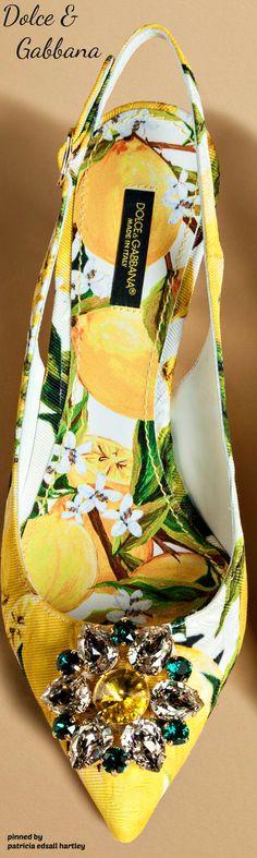 Dolce & Gabbana Slingback in Printed Brocade - 2016