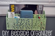 Easy DIY Bedside Organizer | a life like art
