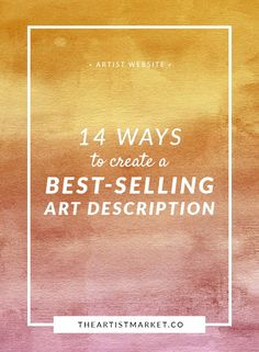 Do you hear crickets every time you upload new art for sale on your artist website? Try these tips to start making more sales.  Product Description | Sell Art | Artist Website