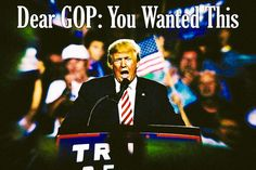 Trump, the GOP, and the Fall – Trump is the party guest who sets fire toyour house, gropes your spouseand drives over your neighbor's cat when he leaves; the GOP is left to deal with the police and the angry neighbors.