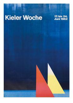 vintage poster for Kieler Woche (Kiel Race Week), Kiel Germany, 1962