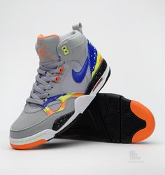 Nike Flight '13 Mid - Mid Base Grey - Game Royal - Mandarin - Volt - SneakerNews.com