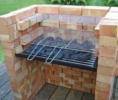 comment construire un barbecue en brique sur la terrasse en bois