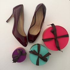 """Kate Spade Giselle Peep Toe Ruby Patent Leather Exquisite Kate Spade Giselle Peep Toe, Ruby Patent Leather, 3"""" inches, comes with box. Perfect for date night or any special event. Made in Italy. New,  authentic.   ✅Offers accepted via OFFER BUTTON only ✅Pls be mindful of Poshmark 20% fee ✅Same day or next day shipping ❌No trades   ❌No lowballs kate spade Shoes"""