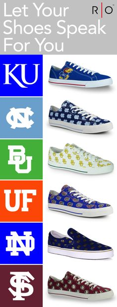 Row One offers a unique line of footwear that allows fans to show their loyalty to their favorite teams and schools.   https://www.rowonebrands.com/products/university-of-north-carolina-victory?utm_source=Pinterest&utm_medium=12.3P