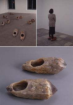 Marina Abramovic, Shoes for Departure (1991)