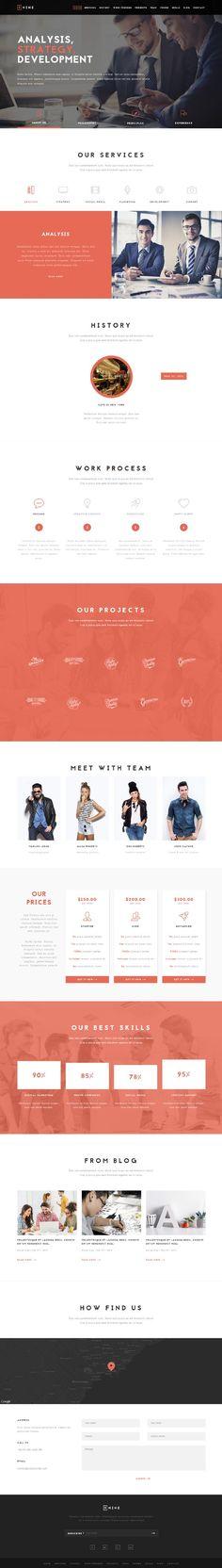 Nine - Multipurpose Unique One Page template #html5templates #psdtemplates #responsivedesign #webtemplates