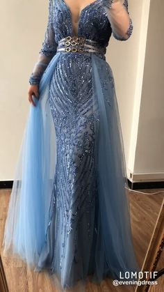 Plus size sequined Long Sleeves Beading Evening Gowns(Pink/Blue). Processing time business days after payment . Source by dresses videos African Lace Dresses, Latest African Fashion Dresses, Elegant Dresses, Beautiful Dresses, Long Sleeve Evening Dresses, Plus Size Evening Gown, Blue Evening Gowns, Plus Size Gowns, Dress Long