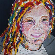 Friends Granddaughter, acrylics