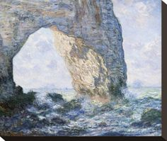 La Manneporte (Etretat), 1883 Stretched Canvas Print by Claude Monet at AllPosters.com