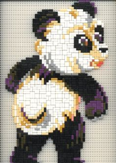 Panda ministeck Panda Bear, Polar Bear, Teddy Bear, Math For Kids, Game Art, Mickey Mouse, Disney Characters, Fictional Characters, Graphic Design