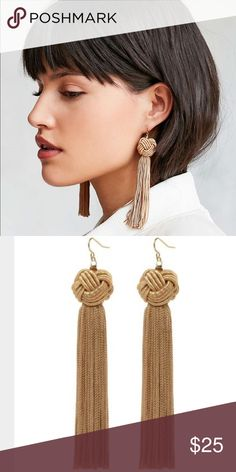 NEW Vanessa Mooney Tan Astrid knot Tassel earrings NEW Vanessa Mooney Tan Astrid knot Tassel earrings. From revolve Vanessa Mooney Jewelry Earrings