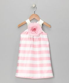 Pink Stripe Rachel Dress - Infant, Toddler & Girls  by Blue Pearl on #zulily