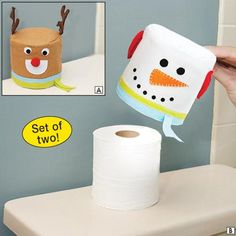 Elk+Snowman Santa Claus Toilet Paper Holders Toilet Towel Reel Roll Paper Cover for Bathroom Christmas Decoration Christmas Snowman, Christmas Crafts, Christmas Decorations, Xmas, Christmas Headbands, Merry Christmas, Tissue Box Covers, Tissue Boxes, Felt Crafts