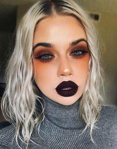 Bold Makeup Looks, Edgy Makeup, Makeup Goals, Makeup Hacks, Simple Makeup, Makeup Inspo, Makeup Inspiration, Makeup Tips, Makeup Ideas