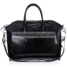 Givenchy Black Antigona Duffel Croc Embossed Patent Leather Tote Bag.  RRP: $1,032.00.  Your Price: $319.99.  (You save $712.01).  Brand: Givenchy.  Givenchy Black Antigona Duffel Croc Embossed Patent Leather Tote Bag detailed physical characteristics and size, so that you can have a more detailed information about it.  http://www.handbagsbagsmall.com/products/Givenchy-Black-Antigona-Duffel-Croc-Embossed-Patent-Leather-Tote-Bag.html