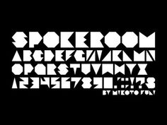 SPOKEROOM FREE FONT
