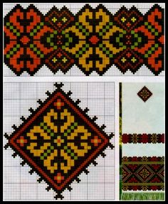 Dsn Cross Stitch Embroidery, Hand Embroidery, Cross Stitch Patterns, Ethnic Patterns, Tapestry Crochet, Different Patterns, Hama Beads, Bead Crafts, Needlepoint