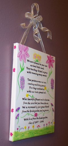 Kindergarten Teacher Personalized Poem by KimMadsen on Etsy, $29.00