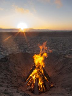 The beach has a limited number of fire pits, but if you can snag one, and construct a decent fire, then you'll have an epic night on the beach. That is, unless it starts raining.